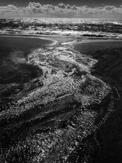 Ansel Adams, 'Stream, Sea, Clouds, Rodeo Beach', 1962