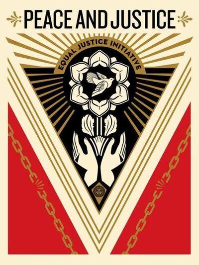 Shepard Fairey, 'Peace Justice', 2018