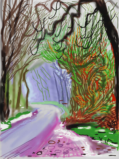David Hockney, 'The Arrival of Spring in Woldgate, East Yorkshire in 2011(twenty eleven) - 1 January', 2011