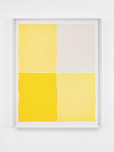 Ethan Cook, 'Three Yellows, White', 2020