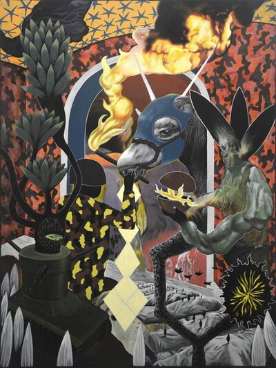 Rodel Tapaya, 'Retrieving the Fire', 2018