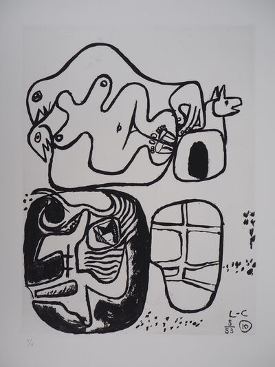 Le Corbusier, 'Unite, Hugging Couple', 1965