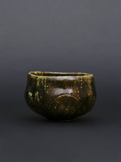 Ohi Toshio, 'Ohi tea bowl with Ameyu glaze with ripples pattern', 2017
