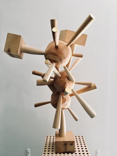 Kelly Bugden + Van Wifvat, 'Whimsical Wooden Abstract Sculpture: 'Untitled'', 2016