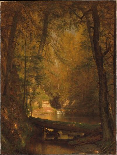 Worthington Whittredge, 'The Trout Pool', 1870
