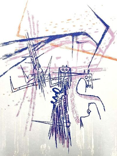 "Wifredo Lam, 'Original Lithograph ""Knight"" by Wifredo Lam', 1963"