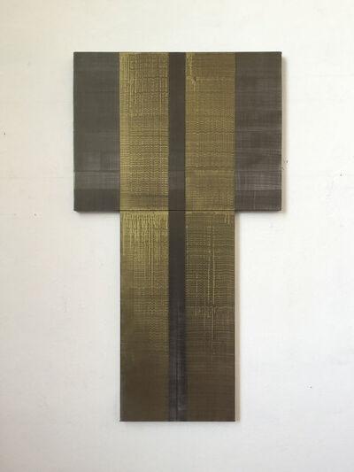 ÁLVARO NEGRO, 'SIN TÍTULO (retablo oscuro, axis negro)', 2018