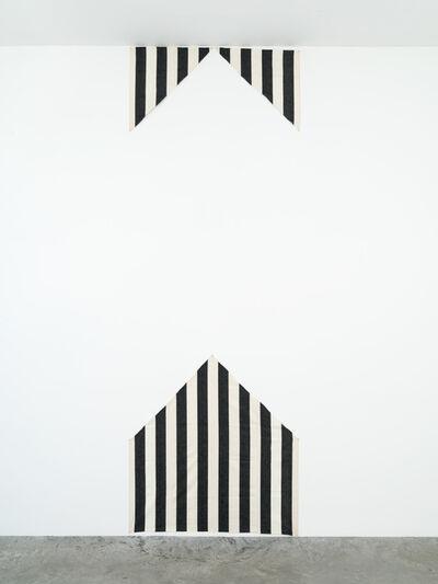 Daniel Buren, 'Pièce découpée en trois pour un mur', December 1970 -January 1972