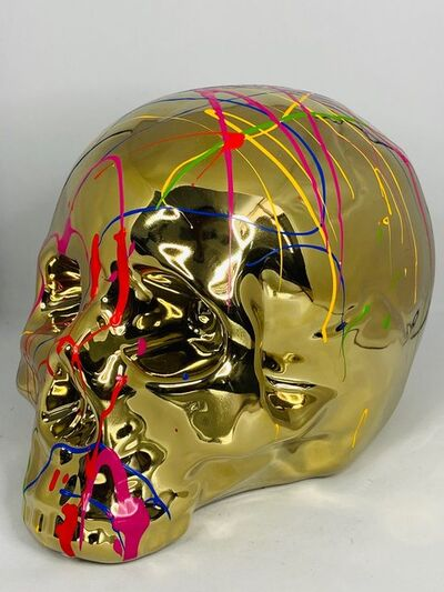 EB Studios, 'Gold Skull Table Top', 2020
