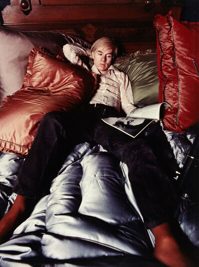 Gianfranco Gorgoni, '[Andy Warhol on his bed]', 1971