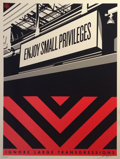Shepard Fairey, 'Small Privileges', 2011