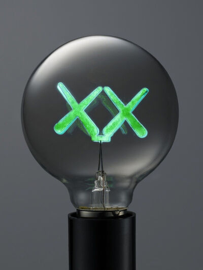 KAWS, 'KAWS X THE STANDARD LIGHT BULB GREEN', 2011