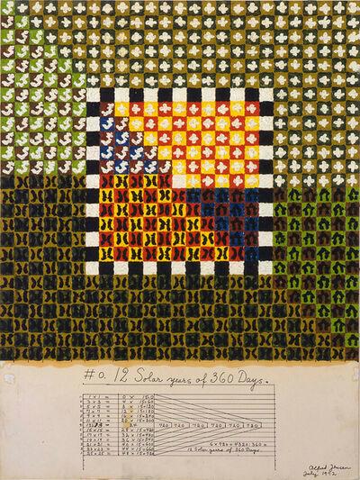 Alfred Jensen, '#0. 12 Solar Years of 360 Days', 1972