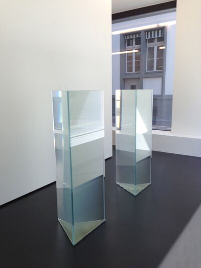 Meg Webster, 'Contained Water Pair(Water from the Nearest Glacier, from the Nearest River)', 2013