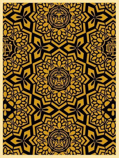 Shepard Fairey, 'Yen Pattern Black/Gold', 2007