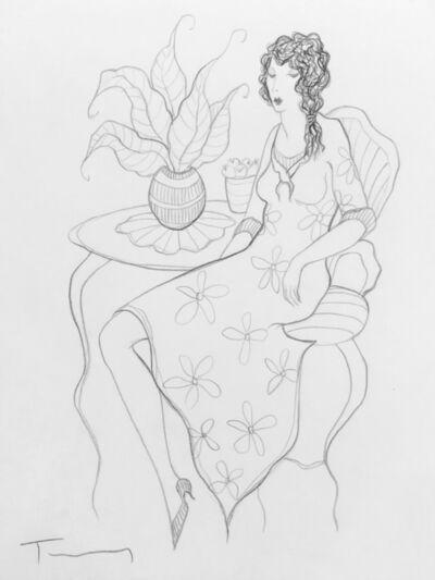 Itzchak Tarkay, 'UNTITLED (WOMAN IN FLORAL DRESS)', UNKNOWN