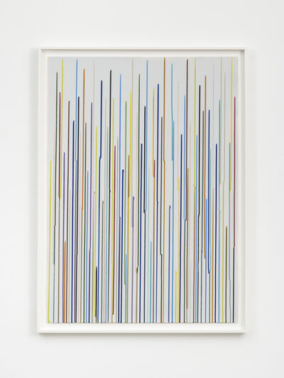 Ian Davenport, 'Staggered Lines: Mixolydian (Grey 2)', 2016