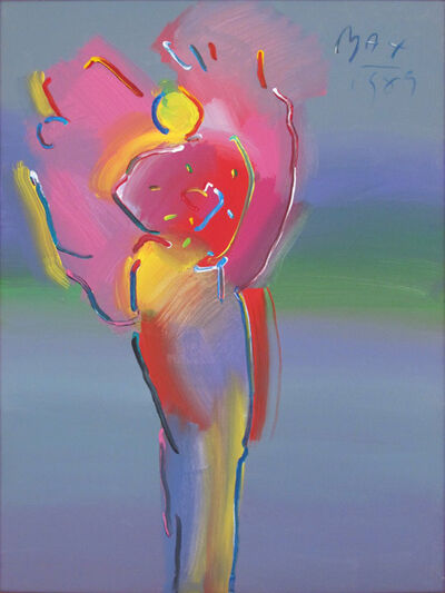 Peter Max, 'Angel with Heart in Spectrum', 1989