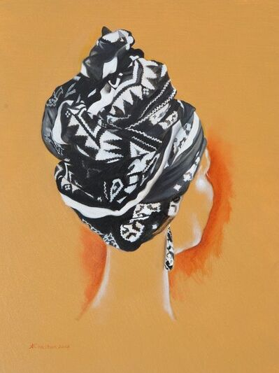 Anthony Christian, 'Black and White Turban', 2017