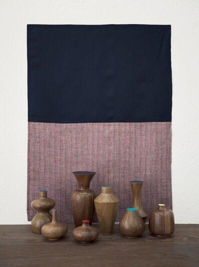"Edgar Orlaineta, 'With Hidden Nature ""Azul Oscuro""', 2018"