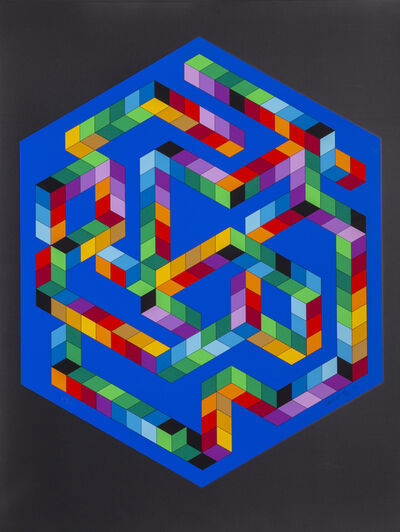 Victor Vasarely, 'Babel 3', 1971