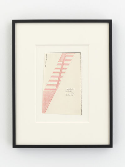 Dom Sylvester Houédard, 'apollinaire soul-ladder to twin elysian sky', 1969