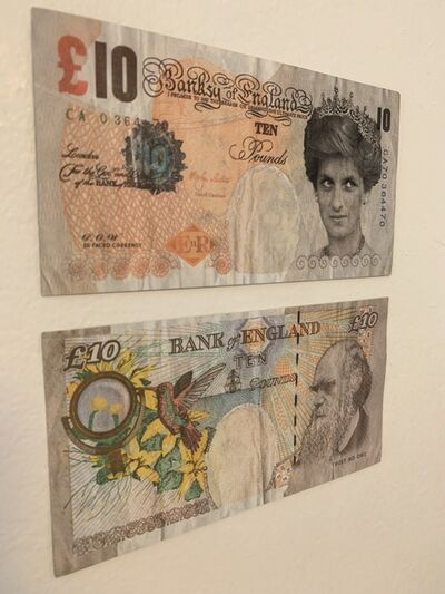 Banksy, 'GENUINE, BANKSY DI-FACED TENNER, SET OF TWO', 2004