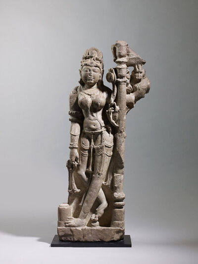 Unknown Indian, 'Female Attendant', Chandella Dynasty-10th century