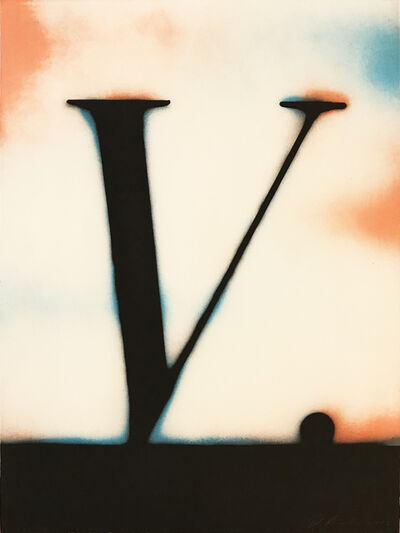 Ed Ruscha, ' V.', 1989