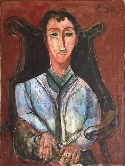 Nahum Tschacbasov, 'Seated Man, Portrait', 1940-1949