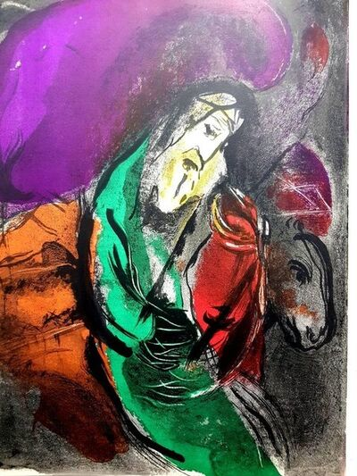 Marc Chagall, 'Original Lithograph depicting an instant of the Bible by Marc Chagall I', 1956