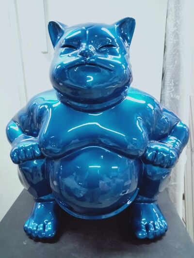 Hiro Ando, 'Sumocat (Blue)', 2017
