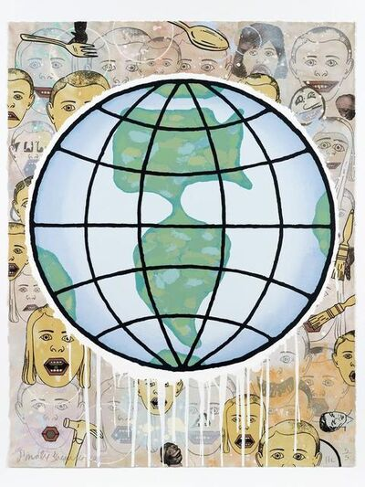 Donald Baechler, 'Lincoln Center Globe', 2011