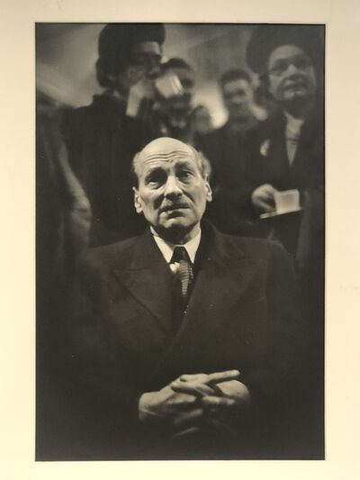 W. Eugene Smith, 'PM Clement Attlee watching election night ', 1950