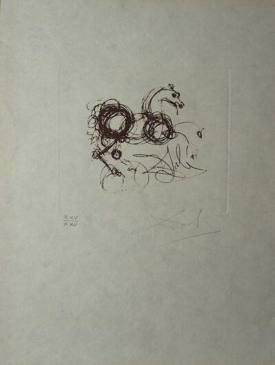 Salvador Dalí, 'Symbols Superstition (Le Dragon)', 1970