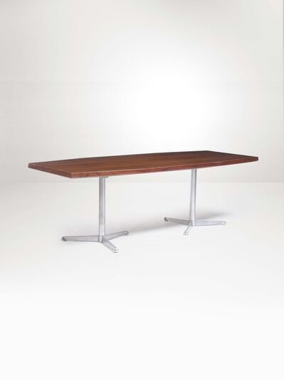 Osvaldo Borsani, 'A table with metal stands and a wooden top', 1960 ca.