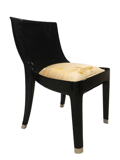 Jean Dunand, 'A prototype, single commission black lacquer chair', ca. 1925