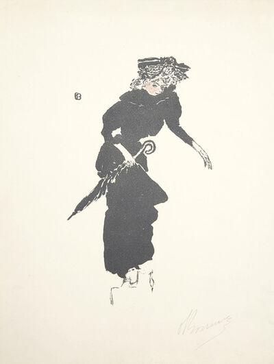 Pierre Bonnard, 'Femme au parapluie, from L'Album de la Revue Blanche', 1895