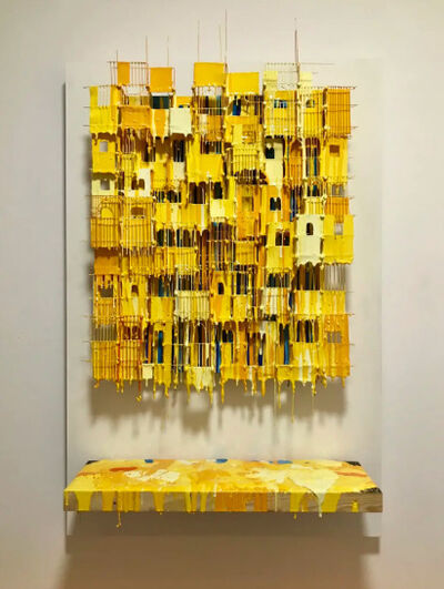 Russell West, 'Little Boxes Yellow', 2017