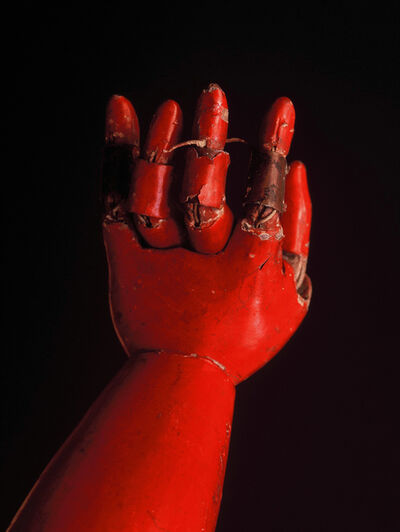 "Shigeo Nishida, '""Red arm of Jyoruri Ningyo"" Spirited face of wooden puppet', 1991-1993"