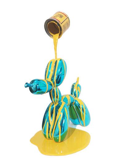 Joe Suzuki, 'Ballon Puppy (Blue and Yellow)', 2019