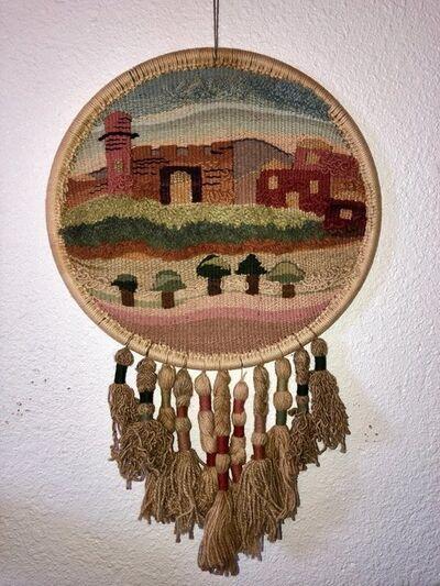 Esther BenSimon, 'Jerusalem Wall Hanging Hand Embroidered tapestry Israeli Craft Judaica Folk Art', 1980-1989