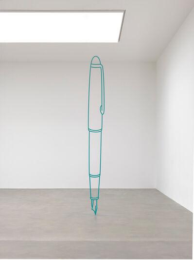 Michael Craig-Martin, 'Fountain Pen (turquoise)', 2019