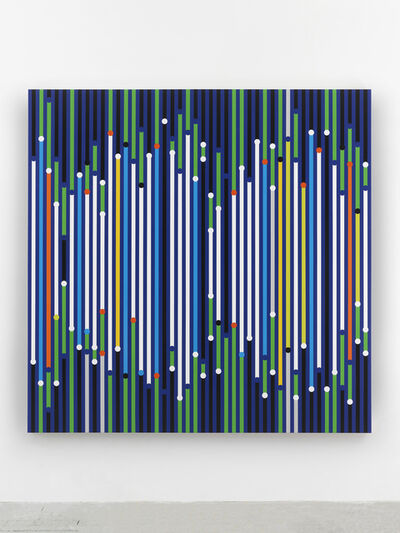 Sarah Morris, 'Here everything seems still under construction and is already a ruin [Sound Graph]', 2019