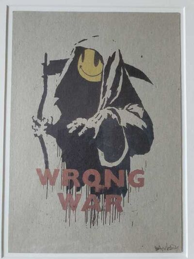 Banksy, 'Wrong War (Signed)', 2004