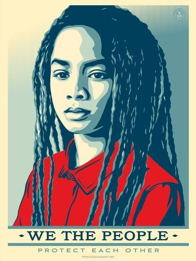 Shepard Fairey, 'We The People Protect Each Other', 2017