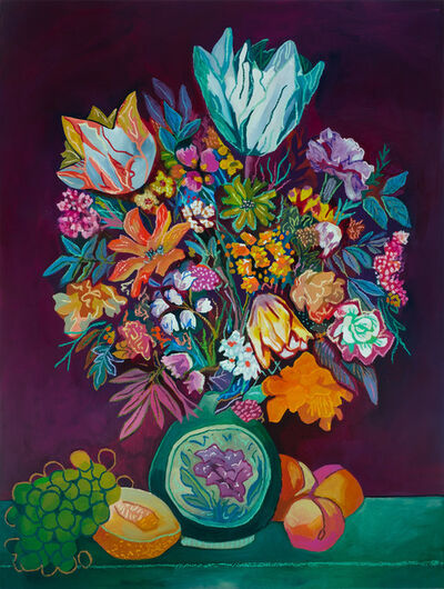 John Holcomb, 'Plum Floral', 2020