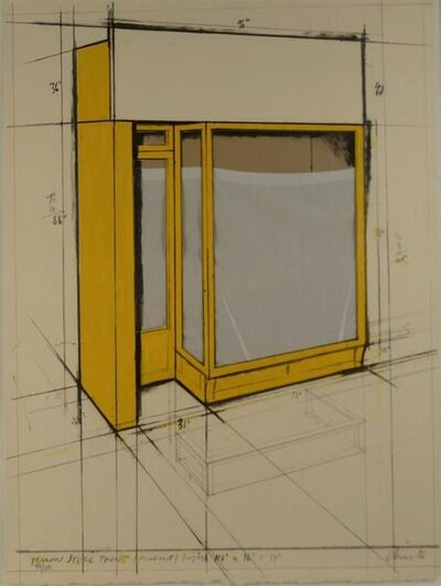 Christo, 'Yellow Store Front', 1980
