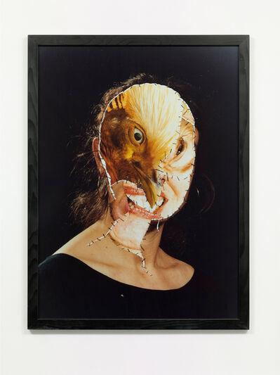 Annegret Soltau, 'GRIMA – Selbst mit Vogel (GRIMA – Self with bird)', 1988