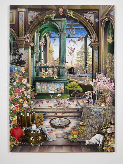 Raqib Shaw, 'Self Portrait in the Studio at Peckham (After Steenwyck the Younger) II'